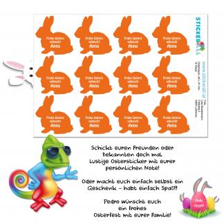 Osterhasen - Sticker - Aufkleber - Geschenk